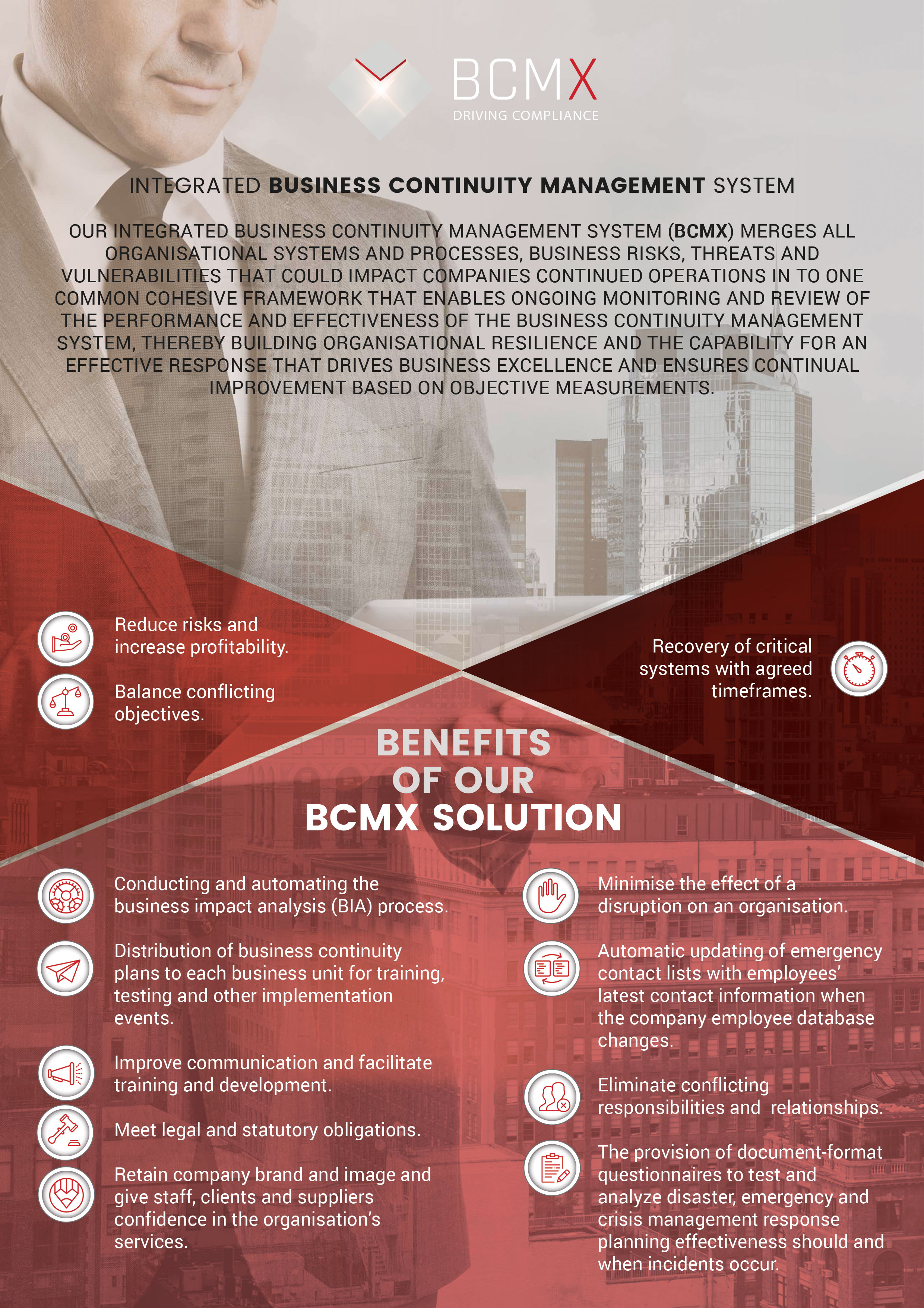 Bcmx Integrated Business Continuity Management System Xgrc Sa